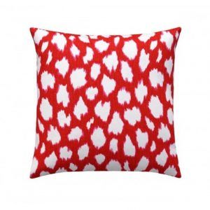 Kravet Red Cream Pillow Case