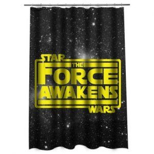 Star Wars The Force Awakens in YellowShower Curtain