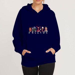 Christmas-Character-Friends-Blue-Navy-Hoodie