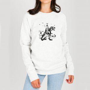 Jesus-Riding-Dinosaur-Sweatshirt
