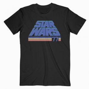 Star Wars Classic Retro Slanted Logo Striped '77