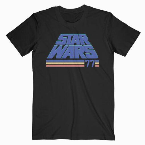 Star Wars Classic Retro Slanted Logo Striped '77